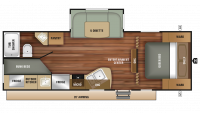 2019 Autumn Ridge Outfitter 24BHU Floor Plan