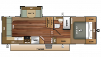 2019 Autumn Ridge Outfitter 255RLS Floor Plan