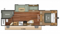 2018 Autumn Ridge Outfitter 265BHS Floor Plan