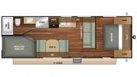 2018 Autumn Ridge Outfitter 26BH Floor Plan
