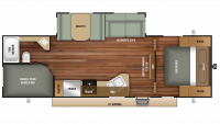 2018 Autumn Ridge Outfitter 26BHS Floor Plan