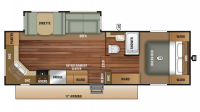 2019 Autumn Ridge Outfitter 275RKS Floor Plan