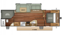 2018 Autumn Ridge Outfitter 27BHS Floor Plan