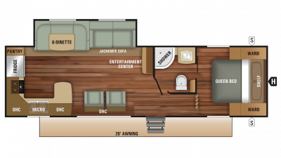 2018 Autumn Ridge Outfitter 27RKS Floor Plan Img