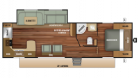 2018 Autumn Ridge Outfitter 27RKS Floor Plan