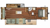 2018 Autumn Ridge Outfitter 27RLI Floor Plan