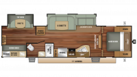 2018 Autumn Ridge Outfitter 31BHU Floor Plan