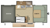 2018 Comet 16KS Floor Plan