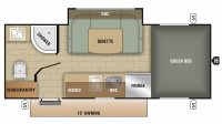 2018 Comet 17UDS Floor Plan