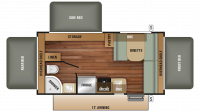 2018 Launch Outfitter 187TB Floor Plan