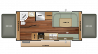 2018 Launch Outfitter 207RB Floor Plan
