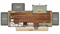 2018 Launch Outfitter 239TBS Floor Plan