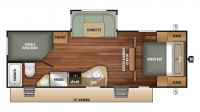 2018 Launch Outfitter 24BHS Floor Plan