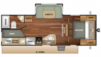 2019 Launch Outfitter 24ODK Floor Plan