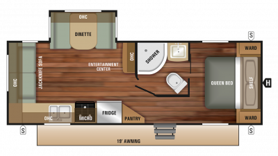 2018 Launch Outfitter 24RLS Floor Plan Img