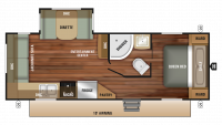 2019 Launch Outfitter 24RLS Floor Plan