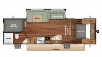 2018 Launch Outfitter 27BHU Floor Plan