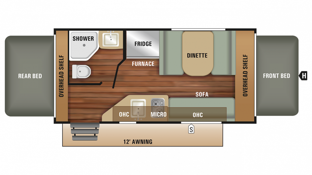 2018 Launch Outfitter 7 16RB Floor Plan Img