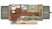2018 Launch Outfitter 7 16RB Floor Plan