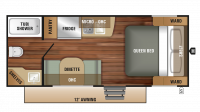 2018 Launch Outfitter 7 17QB Floor Plan