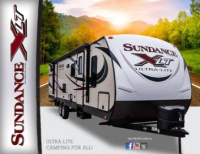 2017 Heartland Sundance XLT Ultra Lite RV Brand Brochure Cover