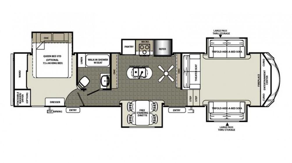 Sierra 377FLIK Floor Plan - 2016