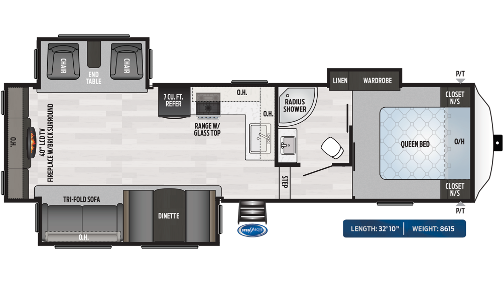 Springdale 253RE Floor Plan - 2020