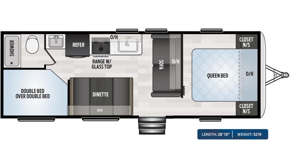 Springdale 260BH Floor Plan - 2020