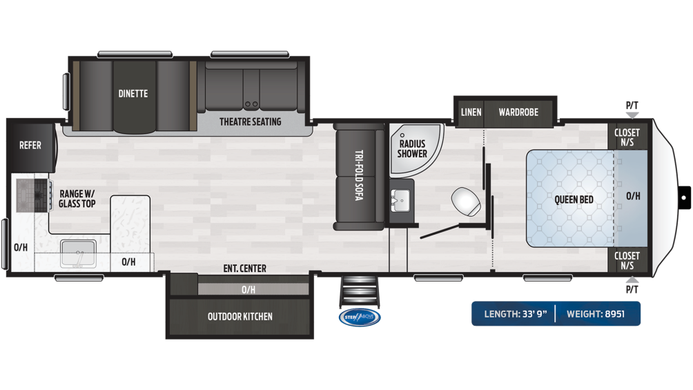 Springdale 302RK Floor Plan - 2020