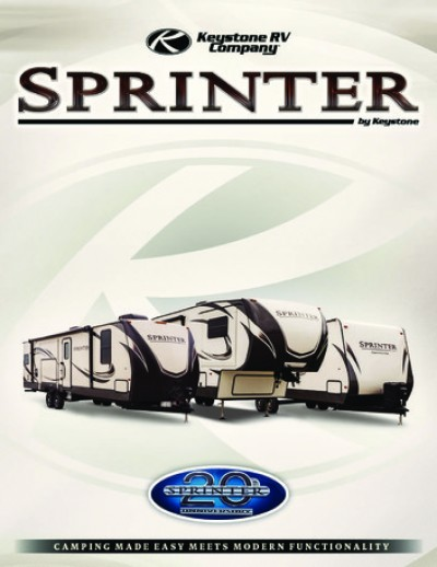 2017 Keystone Sprinter RV Brand Brochure Cover