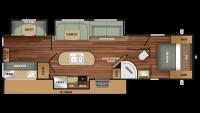 2019 Autumn Ridge 339BHTS Floor Plan