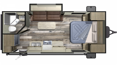 2019 Autumn Ridge Outfitter 20FBS Floor Plan Img