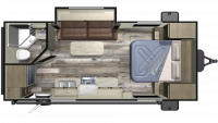 2019 Autumn Ridge Outfitter 20FBS Floor Plan