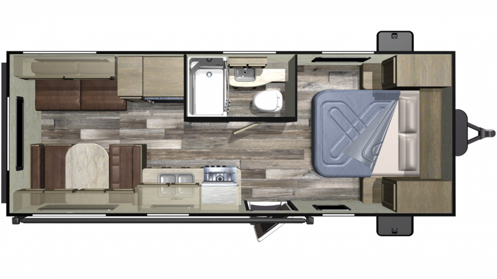 2019 Autumn Ridge Outfitter 21FB Floor Plan Img