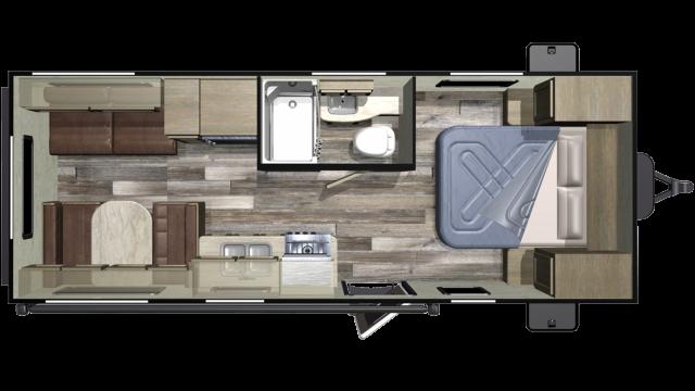 2019 Autumn Ridge Outfitter 21FB Floor Plan