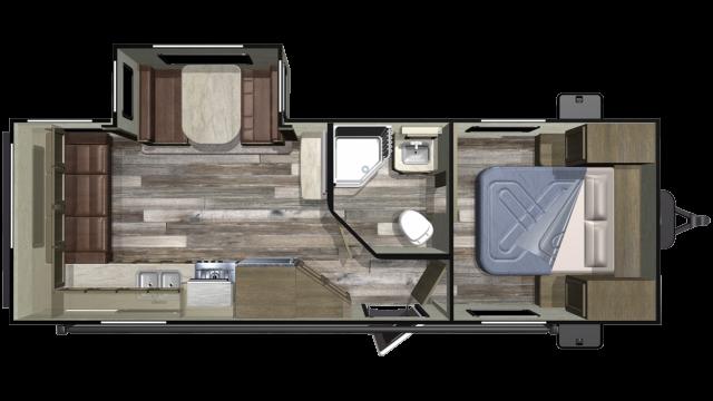 2019 Autumn Ridge Outfitter 23RLS Floor Plan