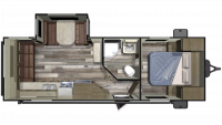 2019 Autumn Ridge Outfitter 23RLS Floor Plan
