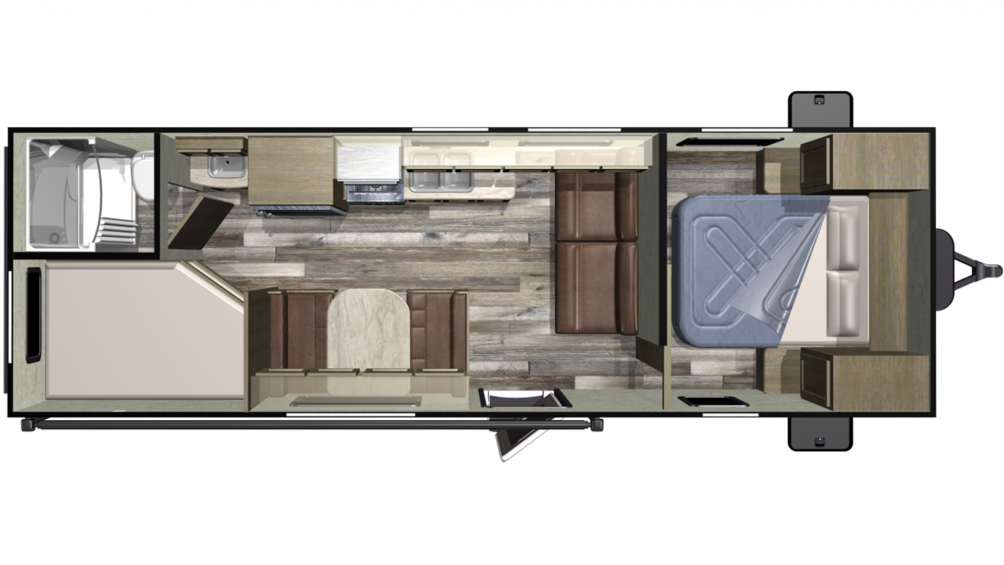 2019 Autumn Ridge Outfitter 26BH Floor Plan Img