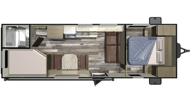2019 Autumn Ridge Outfitter 26BH Floor Plan
