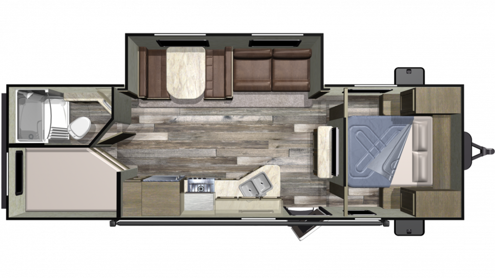 2019 Autumn Ridge Outfitter 26BHS Floor Plan Img