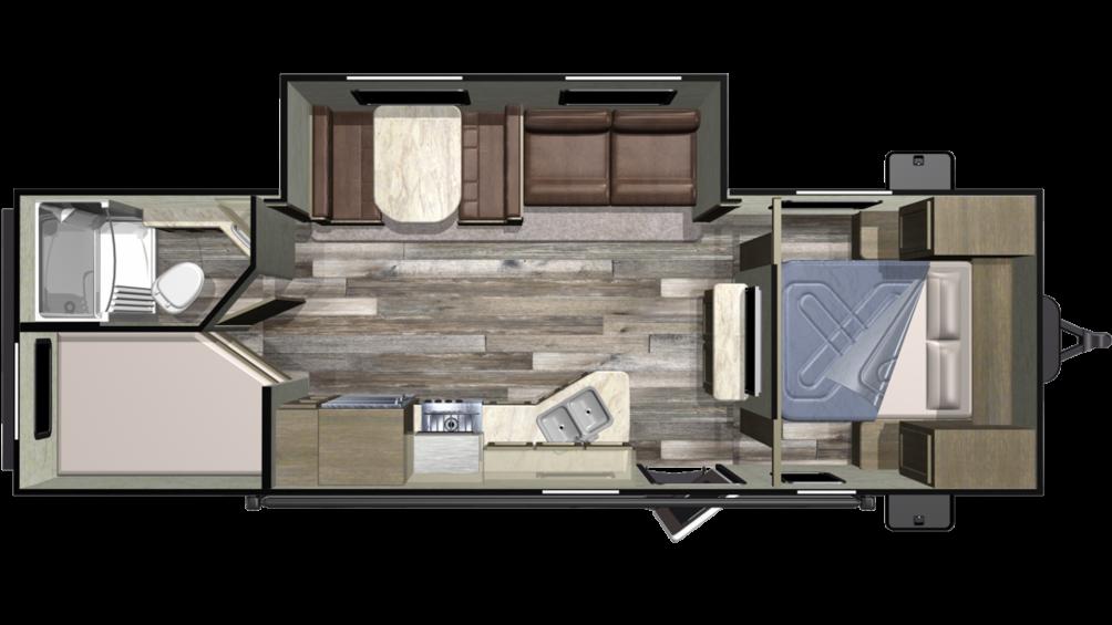 2019 Autumn Ridge Outfitter 26BHS Floor Plan Img