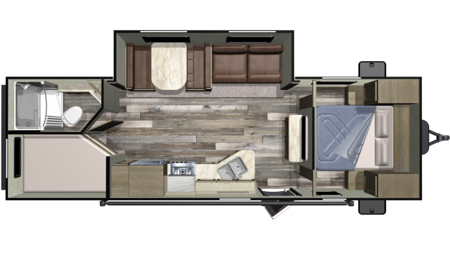 2019 Autumn Ridge Outfitter 26BHS Floor Plan