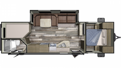 2019 Autumn Ridge Outfitter 27BHS Floor Plan Img