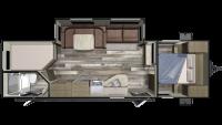 2019 Autumn Ridge Outfitter 27BHS Floor Plan