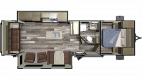 2019 Autumn Ridge Outfitter 27RLI Floor Plan
