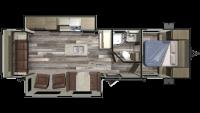 2019 Autumn Ridge Outfitter 27RLI Floor Plan