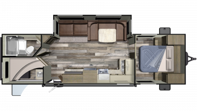 2019 Autumn Ridge Outfitter 282BH Floor Plan Img