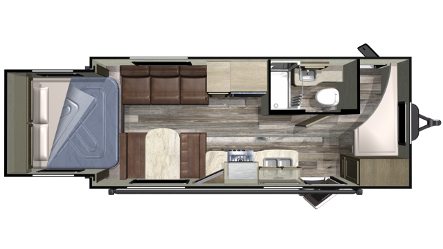 2019 Launch Outfitter 20BHS Floor Plan Img
