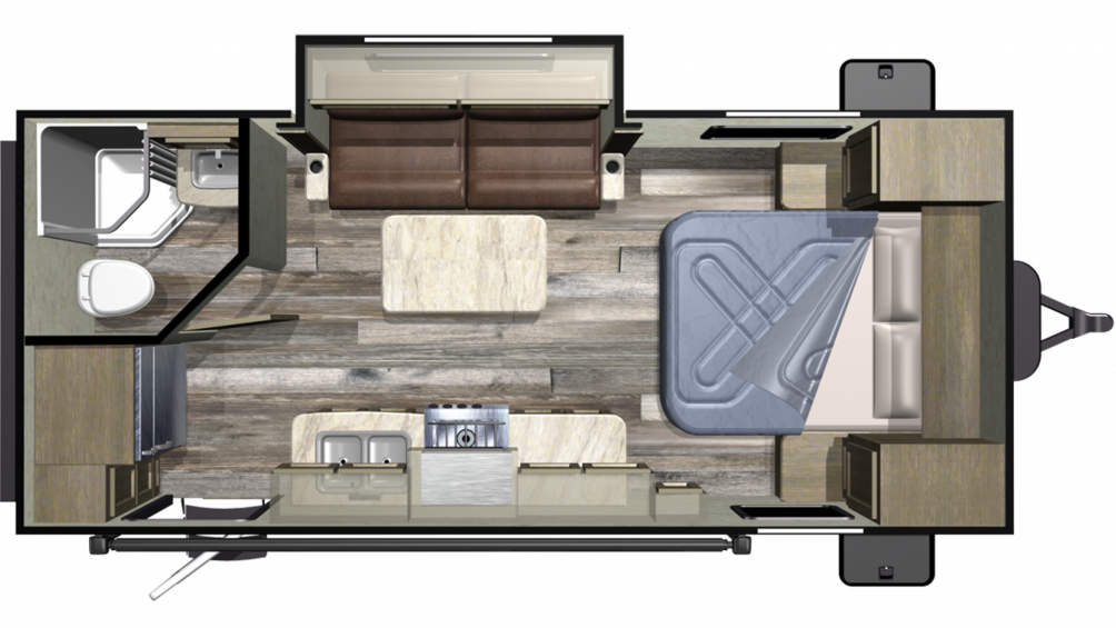 2019 Launch Outfitter 21FBS Floor Plan Img