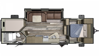 2019 Launch Outfitter 27BHU Floor Plan Img